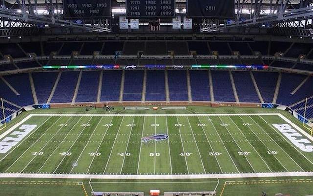 Ford Field looks like the home of the Bills now. (Twitter/@John_Kucko)