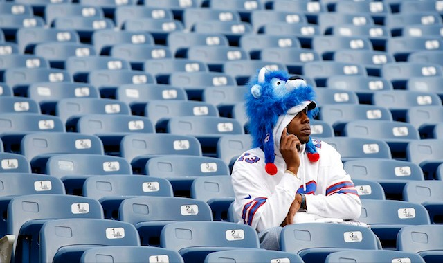 There could be a blackout in Buffalo on Sunday if fans don't start buying tickets. (USATSI)