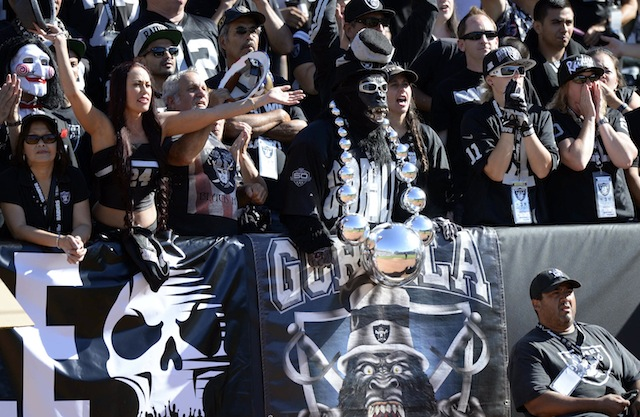 If you're not a Raiders player, you should stay far, far away from the Black Hole. (USATSI)