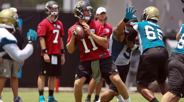 Blaine Gabbert suffered a sprained ankle in training camp on Monday. (USATSI)
