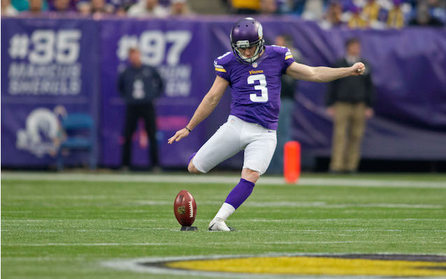 Vikings kicker Blair Walsh is in the 70-yard club. (USATSI)