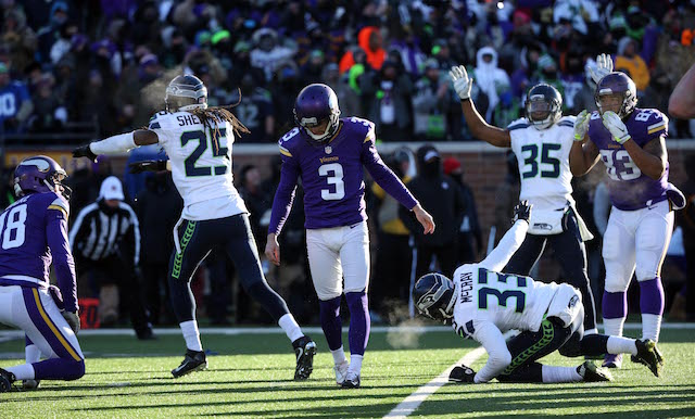It's going to be a long offseason for Blair Walsh. (USATSI)