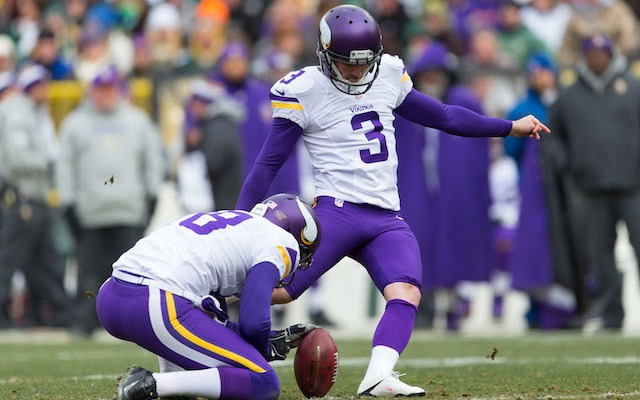 Blair Walsh was one of only five kickers to miss an extra point in 2013. (USATSI)
