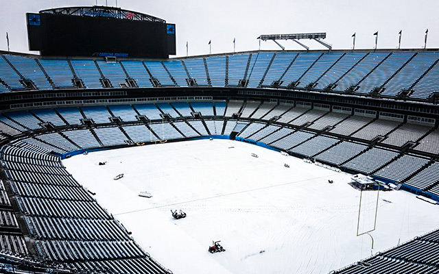 The field at Bank of America Stadium shouldn't be a problem by Sunday. (Twitter)