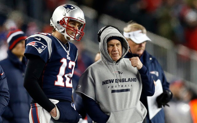 Tom Brady and Bill Belichick are officially celebrating 14 years together. (USATSI)