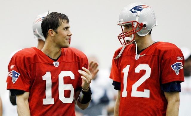 Apparently Tom Brady and Matt Cassel still talk regularly. (USATSI)