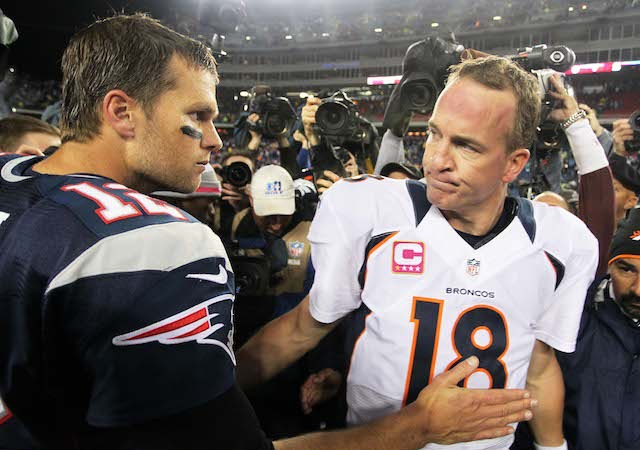 Not everyone will be able to watch Tom Brady vs. Peyton Manning on Sunday. (USATSI)