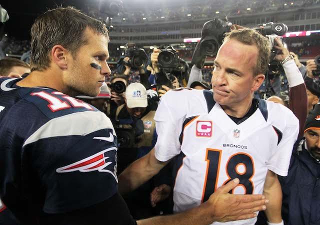 Not everyone will be able to watch Tom Brady vs. Peyton Manning on Sunday. (USATSI)