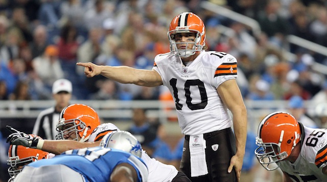 Former Browns first-round pick Brady Quinn is set to join the Rams. (USATSI)