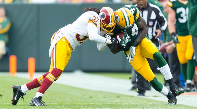 Brandon Meriweather was fined $42,000 for his play Sunday.