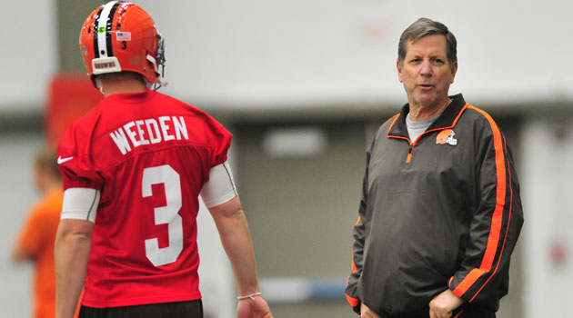 Brandon Weeden would like to start, coach. (USATSI)