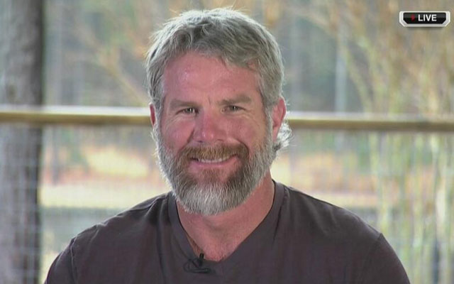 Brett Favre's beard is kicking it.
