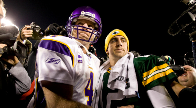 Brett Favre has Aaron Rodgers on his fantasy team.