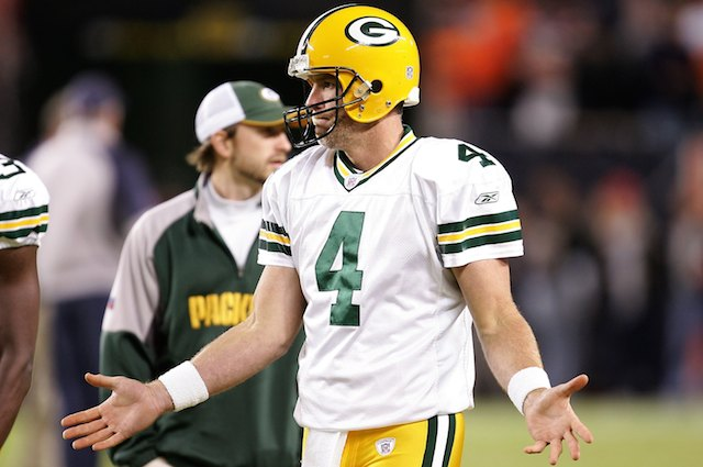 Brett Favre will probably listen to this song on a loop forever. (Getty Images)