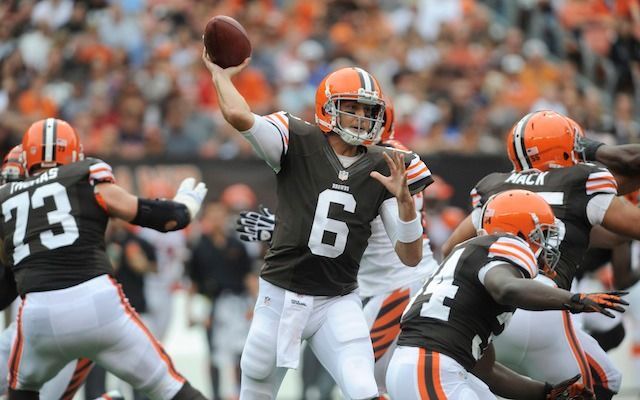 Brian Hoyer will make his third start of the season on Thursday against Buffalo. (USATSI)