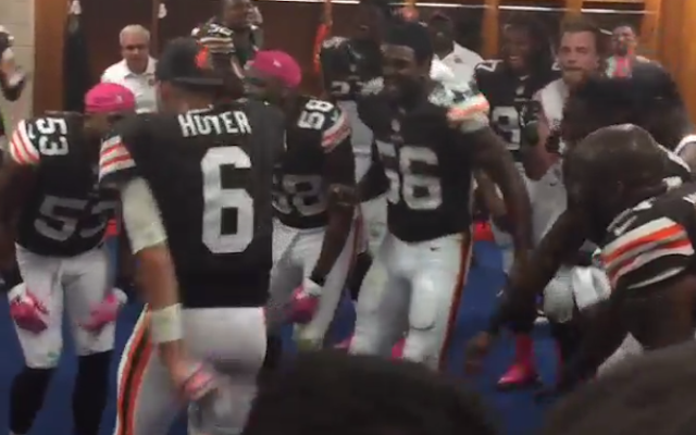 Watch Brian Hoyer Dance In The Locker Room After Browns