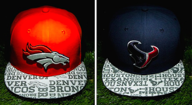 This is what the official 2014 draft hat looks like for the Broncos and Texans. (New Era/FTW)
