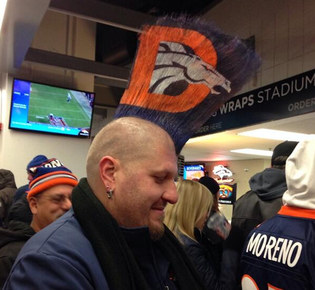 Mohawks are always in style in Denver. (Twitter)