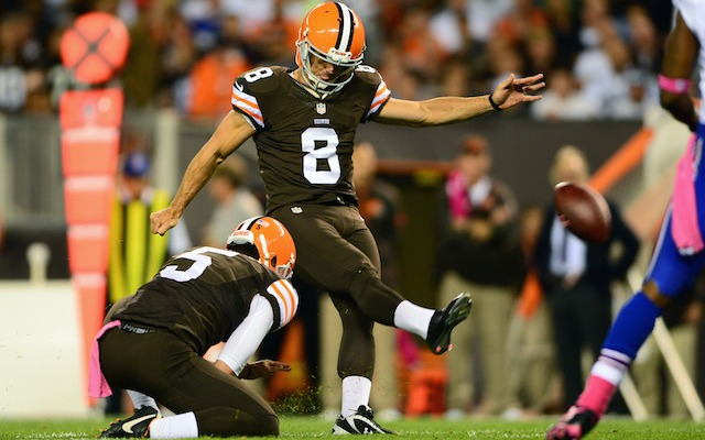 Billy Cundiff signed a one-year deal with the Browns on Thursday. (USATSI)