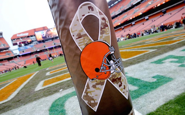 The Browns current logo is nothing special: It's just their orange helmet. (USATSI)