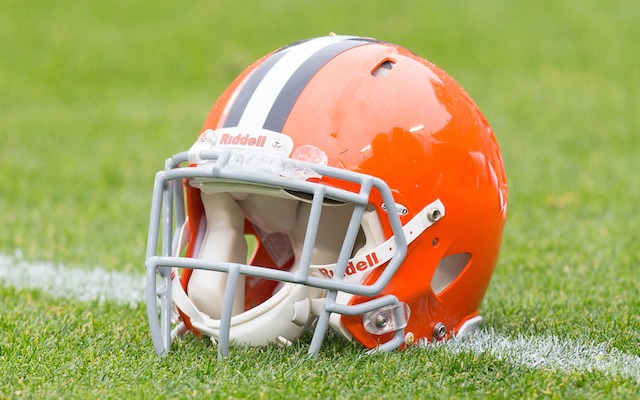 Not just anyone can wear a Browns helmet at Browns practice. (USATSI)