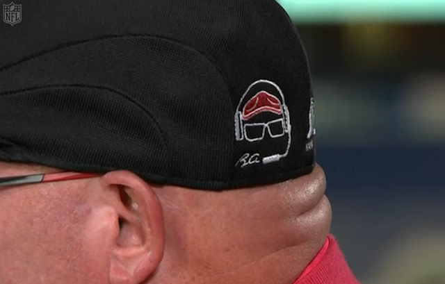 LOOK  Bruce Arians sports his coolest custom Kangol hat yet at NFL ... 1558565f80f