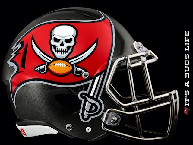photo tampa bay buccaneers unveil new helmet and logo cbssports com tampa bay buccaneers unveil new helmet