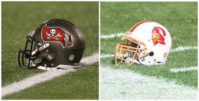 The Buccaneers have only worn two other helmets in team history. (USATSI)
