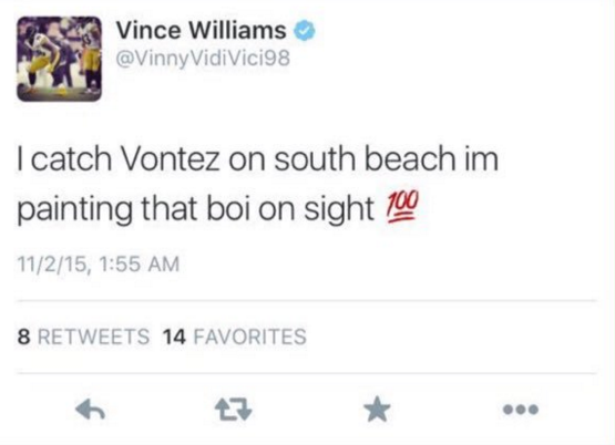 Steelers LB threatens Bengals' Burfict on Twitter after Le'Veon ...