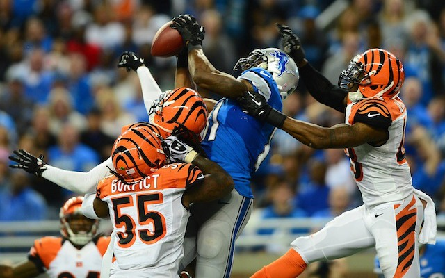 If Calvin Johnson is making touchdown catches in triple coverage, the Cowboys could be in trouble. (USATSI)