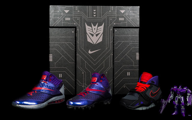 Nike introduced the Calvin Johnson CJ81 Megatron shoes with a Transformer.