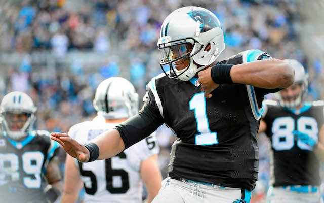 Cam Newton probably didn't like what he found in his locker when he got to practice on Monday. (USATSI)
