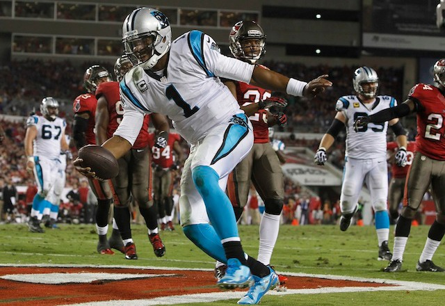Cam Newton and the Panthers are  flying high after seven games. (USATSI)