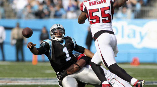 Despite all this, Cam Newton still roots for the Falcons. (USATSI)