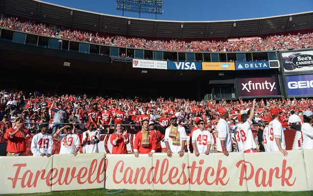 Candlestick Park will be hosting its final regular season game on Monday. (USATSI)