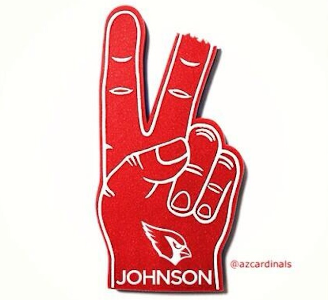 The Cardinals Twitter account had some fun with Rashad Johnson's finger injury. (Twitter)