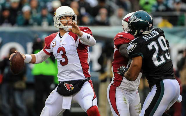 An injured elbow could keep Carson Palmer from playing against the Rams. (USATSI)