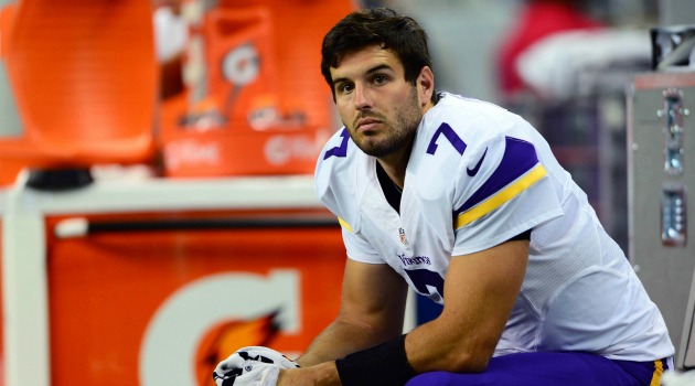 Christian Ponder's reportedly on a 'much shorter leash' with the Vikings than anyone expects.