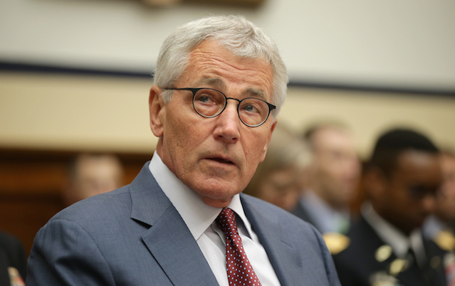 Defense Secretary Chuck Hagel is reportedly looking at the military's relationship with the NFL.