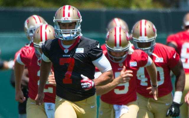 Jim Harbaugh expects 2014 to be a breakout year for Colin Kaepernick. (USATSI)