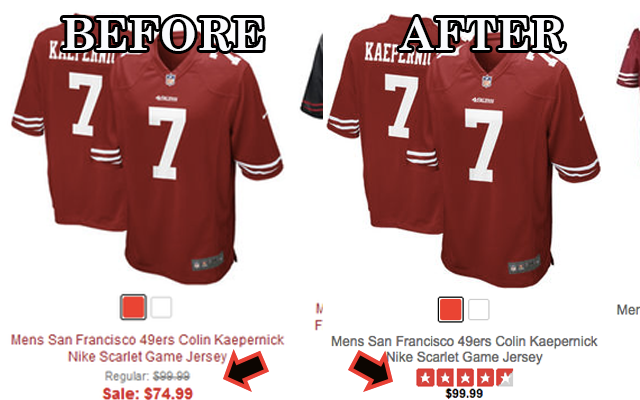 pretty nice 27960 00dc5 49ers end Colin Kaepernick jersey clearance after Chip Kelly ...