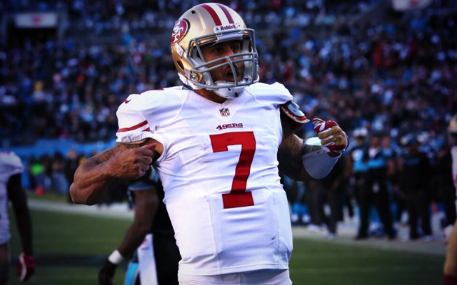Colin Kaepernick busted out the Superman celebration the Panthers.