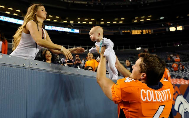 Britton Colquitt has been bringing babies to football games since 2012. (USATSI)