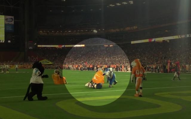 Look Colts Mascot Attacks Patriots Mascot With Inflatable