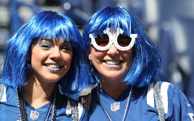 Colts fans want to see the Seahawks leave Indianapolis feeling blue. (USATSI)