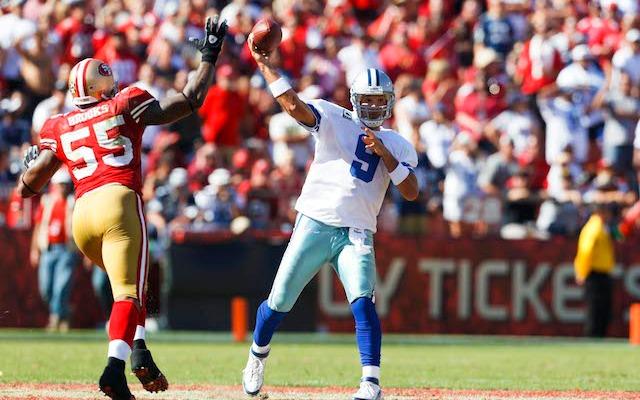 Can Tony Romo beat the 49ers? (USATSI)