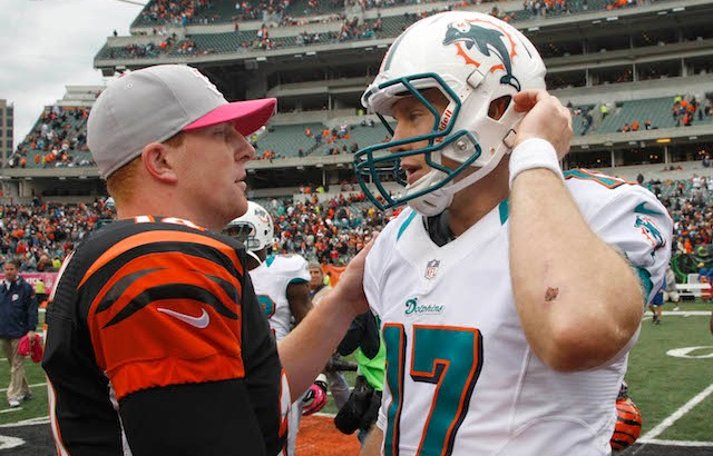Andy Dalton and Ryan Tannehill will be spending Halloween together. (USATSI)