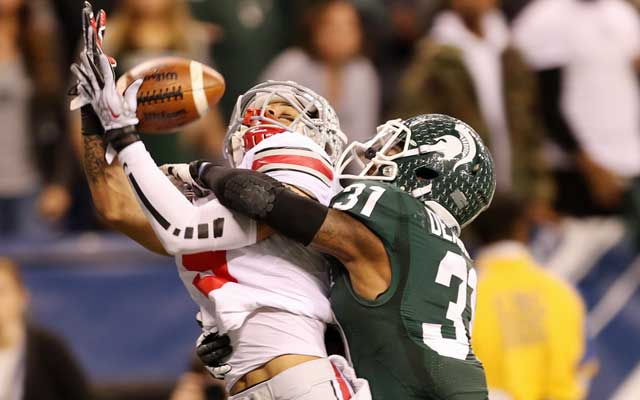 Darqueze Dennard solidified his spot as a first-round cornerback. (USATSI)