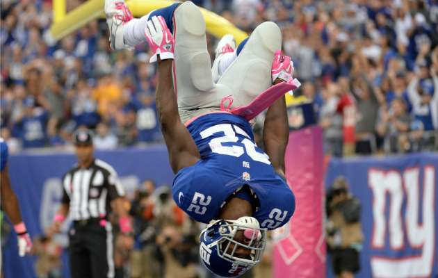 David Wilson won't be flipping for the Giants on Thursday.