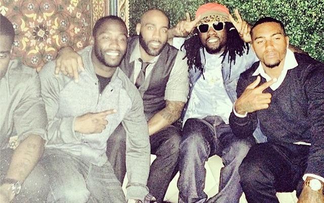 DeSean Jackson seemed to be enjoying himself in Washington on Monday. (Instagram/@Wale)